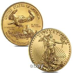Lot De 2 2021 1/4 Oz Gold American Eagle $10 Coin Bu
