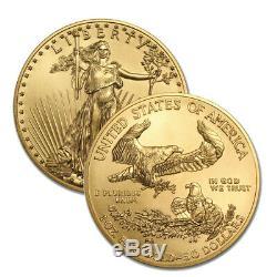 Lot De 2 Médailles D'or 2020 Us 1 Oz American Eagle 50 $ Coins Or