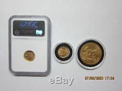 Lot De 3 Médailles D'or Américain Aigles 2012-p 1 Oz 1999-p 1/10 Oz 2008-p 1/10 Oz