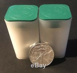 Lot De 40-2011,1 Oz D'argent American Eagle 1 $ Coin Bu (2 Roll, Tube De 20) Bullion