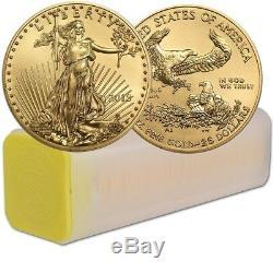 Lot De 40 Dollars Us En Or De 2019 1/2 Oz American Eagle, $ 25 Bu En Tube Us Mint