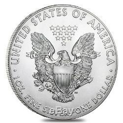 Lot De 40 Pièces D'argent Sterling 2019 De 1 Once American Eagle De 1 $ Bu (2 Rouleaux, Tube De 20)