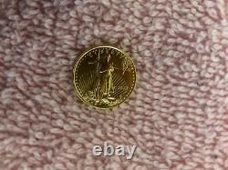 Lot De 4 1/10 Oz Gold American Eagle One Tenth Ounce $5 Coin Brilliant Bu