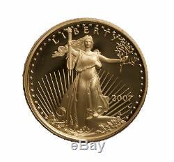 Lot De 4 1/4 Oz De Preuve D'or American Eagle Capsule Uniquement