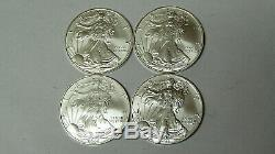 Lot De 4 American Silver Eagles 2004 2005 2006 2007,999 En Argent Fin Dollars