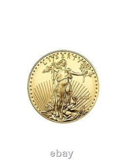 Lot De 4 Pièces D'or 2021 Us 1 Oz American Eagle 50 $ Pièces D'or