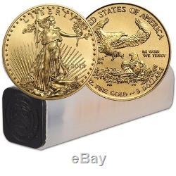 Lot De 50 American Eagle Eagle De 5 $ Bu En Argent Sterling 2018 1/10 Oz