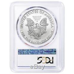 Lot De 5 2019-w Bruni 1 $ Américain Silver Eagle Pcgs Sp70 Fs Lab West Point