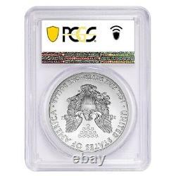 Lot De 5-2020 (s) 1 Oz Silver American Eagle Pcgs Ms 69 Fs (sf) Emergency Issue