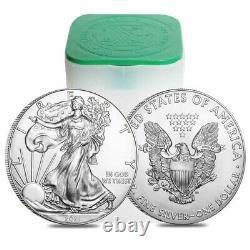 Lot De 5 2021 1 Oz Silver American Eagle $1 Coin Bu