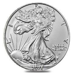 Lot De 5 2021 1 Oz Silver American Eagle $1 Coin Bu Type 2