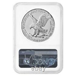 Lot De 5 2021 1 Oz Silver American Eagle Type 2 Ngc Ms 70 Er