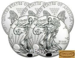 Lot De 5 Ans Au Hasard American Silver Eagles Bu, 1 Oz D'argent Pur. 999 - # A04