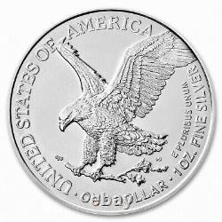 Lot De 5 Argent 2021 Aigle Américain 1 Oz. Très Bien. 999 Pièces De Conception De Type 2 Us Oz