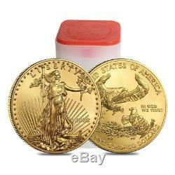 Lot De 5 Onces D'or 2020 1 American Eagle 50 $ Coin Bu