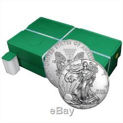 Lot De 60 2019 $ 1 American Silver Eagle 1 Litre Non Recyclé Brillant 3 Oz Plein