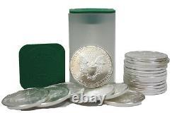Lot De 80 Silver 2020 American Eagle 1 Oz. 999 Fine $1 Pièce 4 Us Mint Rolls