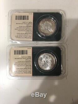 Lot De 8 1991,92,95,98,94, 3x 2001 American Silver Eagle Porte Littleton
