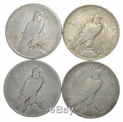 Lot En Vrac Cull (20) Argent De La Paix 1922-1925 $ 1 Dollar Rouleau De La Collection Eagle À 90%