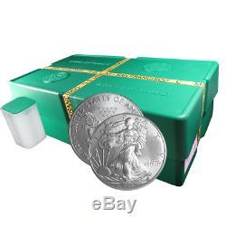 Lot Of 500 2013 (s) $ 1 American Silver Eagle Boîte De 1 Oz Scellée Pour Monstre