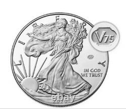 Monnaie Américaine Fin De La Guerre Mondiale 2 75e Anniversaire Eagle Silver Proof Coin Inhand