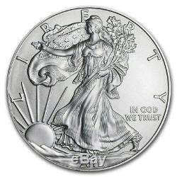 Monstre Scellé U. S. Mint 2011, Boîte De 500.999 Pièces D'argent American Eagle De 1 Once
