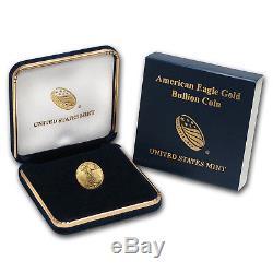Or 2018 1/10 Oz American Eagle Bu (avec U. S. Mint Box) Sku # 152746