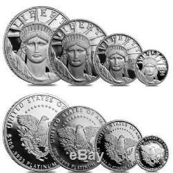 Original Owner 2005-w Ensemble De 4 Pièces Proof Platinum Coa American Eagle Us Mint