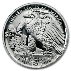 Pièce À L'épreuve American Eagle Palladium 2018 W 25 $ 1 Oz. Scellé Dans Us Mint Box