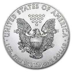 Pièce D'argent Américaine De 1 Once En Argent Eagle 2017, Lot De 100 Dans Des Tubes Scellés De Menthe Des États-unis