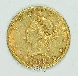 Pièce D'or 1899 S $ 10 Dollars En Or Liberty Head Avec Aigle Américain