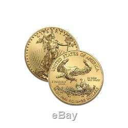 Pièce De 20 Dollars Us En Or Avec Monnaies American Eagle De 2019 Pièces D'or Et 1/2 Once D'or