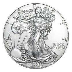 Pièce De Monnaie Américaine De 1 Once, 2018 American Silver Eagle, En Lot De 100 Rouleaux Scellés À La Monnaie Des États-unis