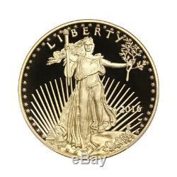 Pièce De Monnaie Américaine De 20 Oz À 17 Karats Avec Pièce De Monnaie Américaine American Gold Eagle 2016-w Avec Boîte À La Menthe Et Certificat D'authenticité
