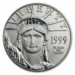 Pièce De Monnaie Américaine En Platine Eagle De 100 $ Us En Platine, 1999, Us $ 100