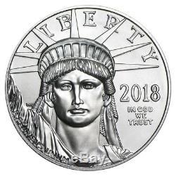Pièce De Monnaie Américaine Platinum Eagle 2018 Us De 1 Once