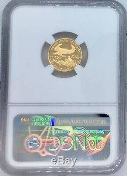 Pièce De Monnaie - Cameo Ultra Eagle Pf-69 Ngc G De 5 $ Us Preuve 1996 W 1/10 Oz Or Menthe