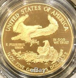 Pièce De Preuve American Eagle 1987 De 1987 Dans La Capsule Originale À La Menthe, 1/2 Once Bu