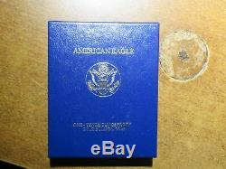 Pièce De Preuve American Eagle 1994 W $ 5 Or 1 / 10oz Avec Coffret & Coa Mint Fresh