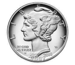 Pièce Justificative American Eagle One Oz Palladium 2018 Scellée Dans La Boîte Us Mint