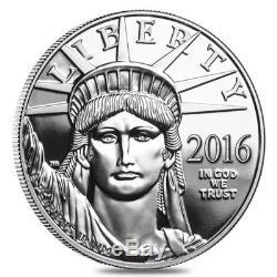 Platinum American Eagle 2016 1 Oz. Pièce De Preuve Dans L'emballage D'origine À La Menthe