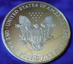 Pound Géant 1988, 8 Troy Oz. Pièce 999 Silver Eagle Washington Menthe Proof