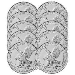 Presale Lot De 10 2021 $1 Type 2 American Silver Eagle 1oz Brillant Uncircu