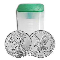 Presale Lot De 20 2021 $1 Type 2 American Silver Eagle 1oz Brillant Uncircu