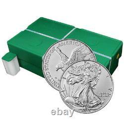 Presale Lot De 500 2021 $1 Type 2 American Silver Eagle 1oz Brilliant Uncirc