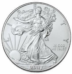 Prévente Lot De 100 2021 $1 American Silver Eagle 1 Oz Brilliant Uncirculated