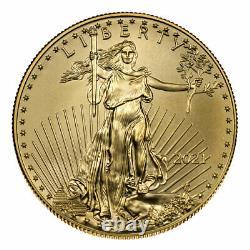 Prévente Lot De 10 2021 $5 American Gold Eagle 1/10 Oz Brilliant Uncirculated