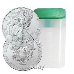 Prévente Lot Du 20 2021 $1 American Silver Eagle 1 Oz Brilliant Uncirculated
