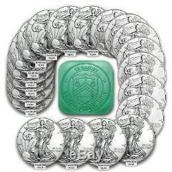 Prix Spécial! 1 Oz D'argent American Eagle Bu (random Année) Lot De 20 Sku # 101889