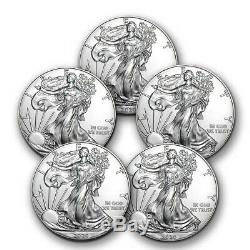 Prix Spécial! 2020 1 Oz D'argent American Eagle Bu Lot De 5 Pièces